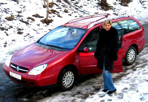 Ilona Csáková jezdí svozem Citroën C5
