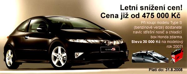 Honda stanovila pro léto snížené ceny svých modelů