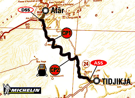 7. ledna 2004 soutěžící absolvovali 7. etapu Rallye Dakar