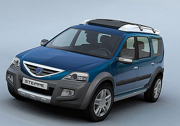 Koncept Dacia Logan Steppe se 1. března představil na ženevském Autosalonu veřejnosti