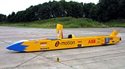 ABB e=motion přerušil svůj pokus o překonání rychlostního rekordu elektrických vozidel na pozemních komunikacích.
