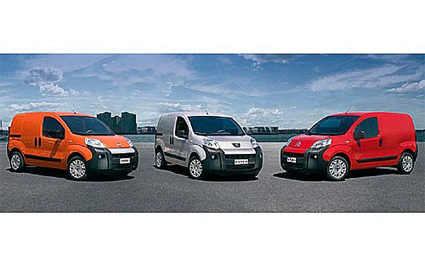 Fiat A PSA Peugeot EUGEOT Citroën představují novou koncepci kompaktní a úsporné dodávky