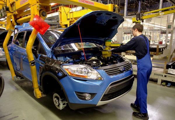 Výrobní závod společnosti Ford v německém Saarlouis včera zahájil produkci crossoveru Ford Kuga