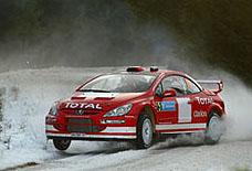 Peugeot po včerejším prvním dnu na Švédské Rallye