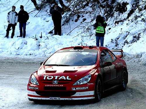 Rallye Monte Carlo po první etapě (22.–25.1.2004)