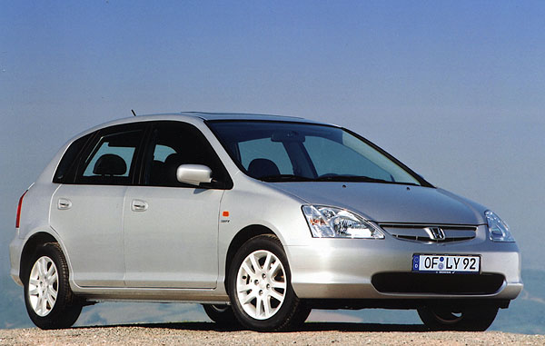 Honda Civic spěti dveřmi