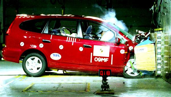 Honda Stream – pohodlný vůz pro sedm osob získal výborné výsledky vtestech bezpečnosti
