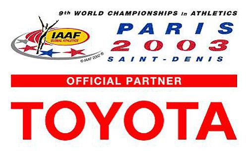 Toyota se stala oficiálním partnerem 9. mistrovství světa vlehké atletice