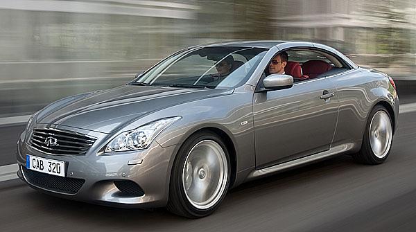 Nový čtyřsedadlový Infiniti G37 Cabrio od 1408300 Kč vč. DPH