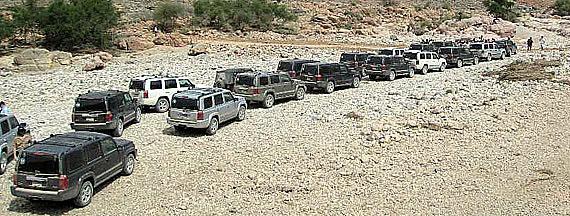 Jeep Commander v Ománu