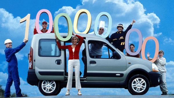 Renault Kangoo – od roku 1997 vyrobeno jeden milion vozů