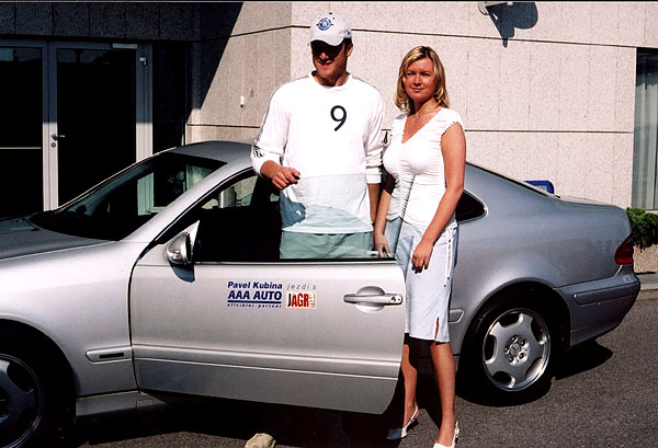 Pavel Kubina jezdí sAAA AUTO