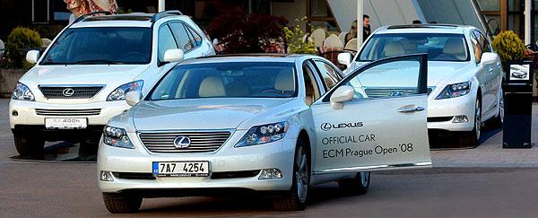 Lexus jedním zhlavních partnerů a oficiálním přepravcem probíhajícího ECM Prague Open ´08