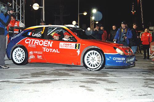 Rallye Monte Carlo po druhé etapě(22.–25.1.2004)