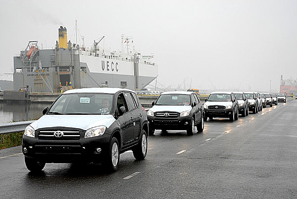 Logistickým centrem firmy Toyota prošlo již přes 2 miliony vozů