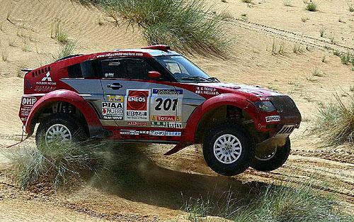 Vozy Mitsubishi Pajero Evolution obsadily suverénně první i druhé místo na nejtěžším motoristickém závodu světa – Telefónica Dakar Rally