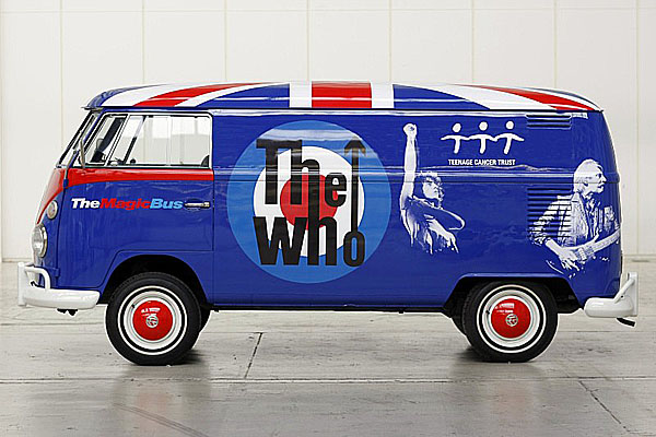 """Teenage Cancer Trust akapela The Who vyhlašují celosvětovou soutěž oikonický """"Magic Bus"""" Volkswagen"""