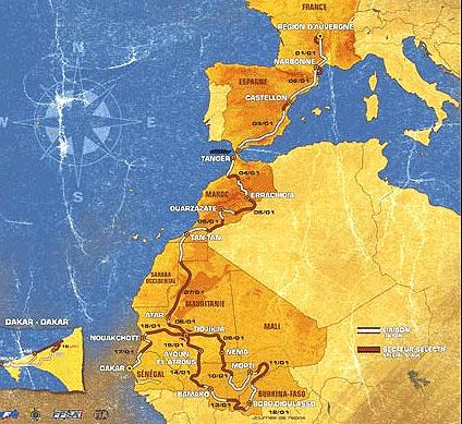 Komplexní informace Rallye Telefonika – Dakar 2004 včetně popisu všech 17. etap soutěže
