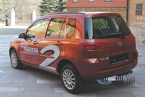 Nový model Mazdy - Mazda2 představena novinářům na tiskové konferenci 14. dubna