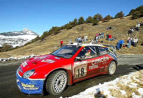 Citroën na vozech Xsara WRC obhajuje na Rallye Monte Carlo korunku z hor