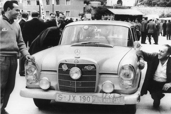 Mercedes: Čtyřicet let od vítězství vRallye Monte Carlo