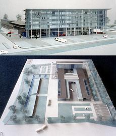 Výstavba nového prodejního a servisního střediska Mercedes-Benz za 1 miliardu Kč vPraze zahájena