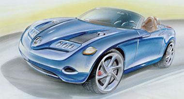 Vision SLA - požitek zjízdy sroadsterem vyvinutým na základě vozu Mercedes-Benz třídy A