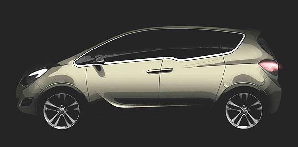 Světová premiéra studie Opel Meriva Concept