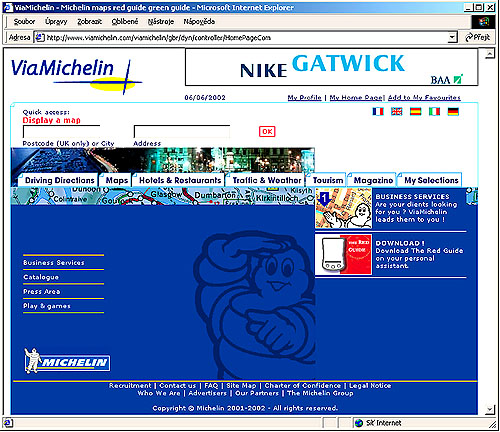 Digitální Michelin www.ViaMichelin.com