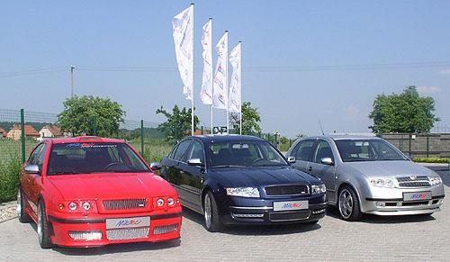 Nejrůznější doplňky pro automobily Škoda Fabia, Octavia či Superb