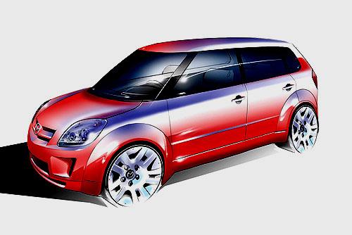 Mazda představuje vDetroitu na Motor Show 2004 koncept MX-Micro Sport