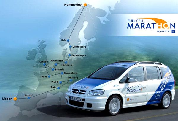 """""""Opel Fuel Cell Marathon – powered by GM"""": Tvrdá zkouška technologie palivových článků"""