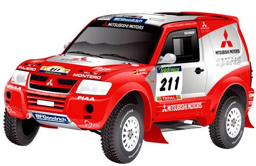 Mitsubishi na Rallye Telefonica Dakar 2004