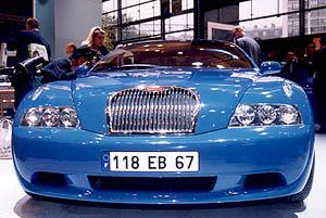 Paříž obdivovala Bugatti EB 118