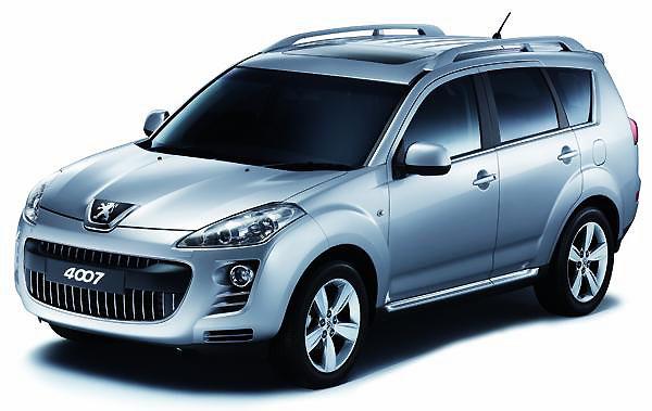 Nový model Peugeot 4007 4x4 typu SUV
