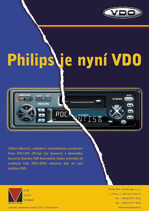 Od značky Philips kznačce VDO