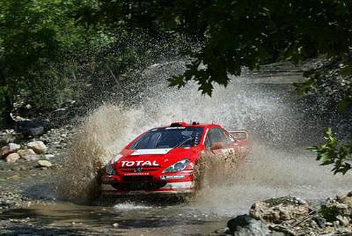 Peugeoty 307 WRC na Turecké rallye (25. – 27. 6. 2004)