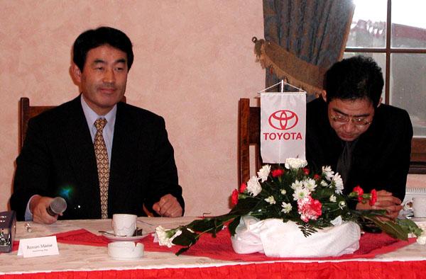 Slavnostní zahájení prodeje nové Toyoty Corolly 15. ledna 2002