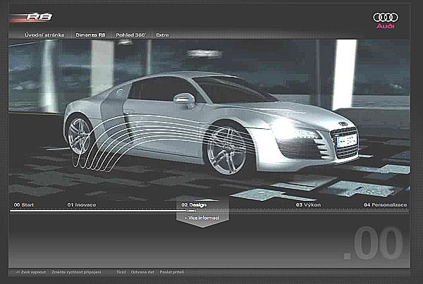 Audi R8 ve virtuálním světě na www.audi.cz