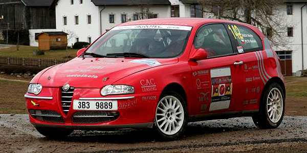 Rada na Alfě Romeo zvíkendové Rallye Šumava přivezl zlatou medaili