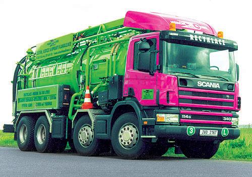 Recyklační vůz Scania pro komunální služby