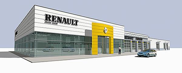 První pobočka prodejní sítě Renault Europe Automobiles vČeské republice