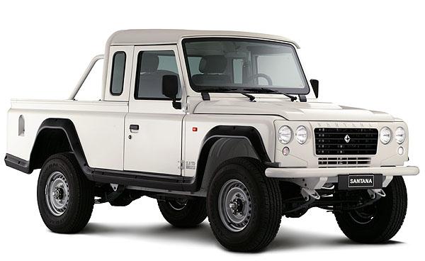 Nabídka užitkových vozidel SANTANA se rozrostla o provedení PickUp sdvoumístnou karoserii