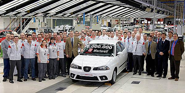 Z Martorellu vyjelo už šest milionů automobilů SEAT