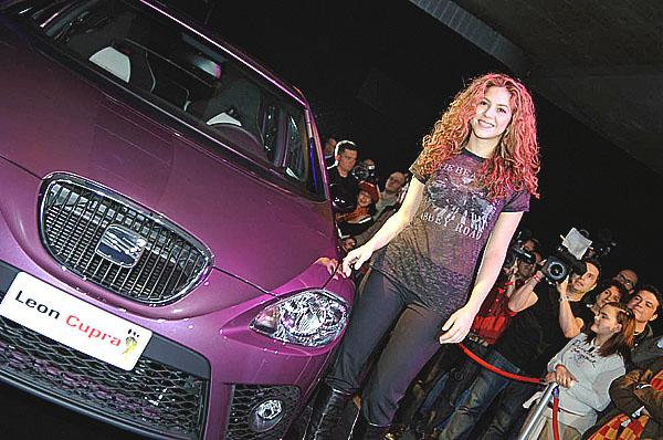 Zpěvačka Shakira a značka SEAT