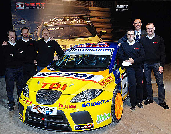 SEAT Sport představil tým světového šampionátu cestovních vozů WTCC 2008
