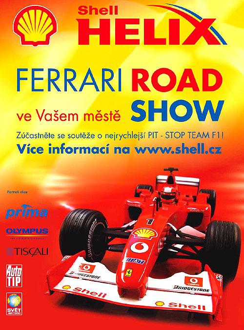 Stantě se mechanikem Ferrari