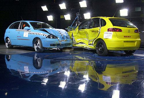 Čtyři hvězdičky pro Seat Ibizu vtestech Euro-NCAP