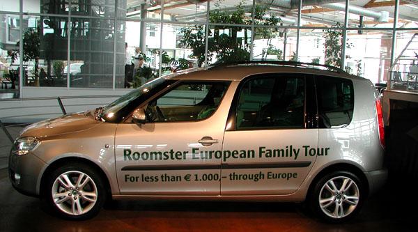 Včera – 25.června odstartovala Škoda Roomster zMladé Boleslavi na 15.520 kilometrů