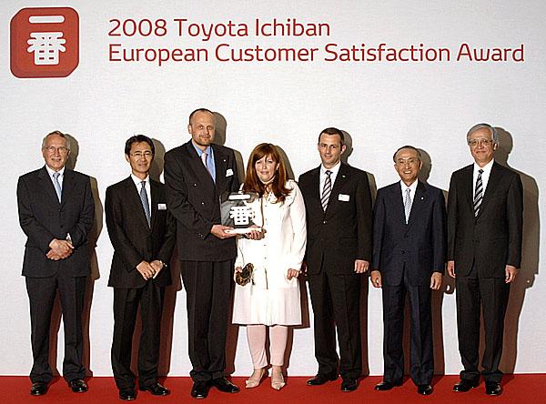 Toyota udělila jednomu z českých prodejců Evropskou cenu spokojenosti zákazníků